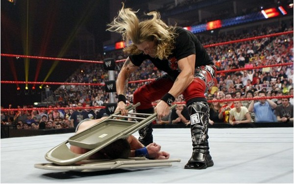 Hop out the crowd with the steel like John Cena can someone – Wwf Chair